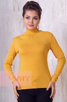 Блуза ВК-21 Фемина (Светлая горчица)