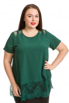 Блузка 735 Luxury Plus (Темно-зелёный)
