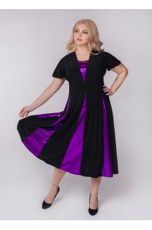 """Платье """"Фиеста"""" Sparada (Чёрный / Фиолетовый)"""