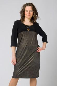 """Платье """"СКС"""" 3703 (Черный/коричневый)"""