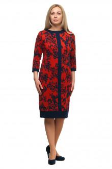 """Платье """"Олси"""" 1705032/1V ОЛСИ (Красный/синий узор)"""