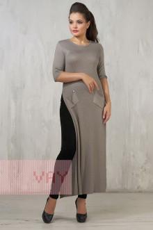 Платье женское 2225 Фемина (Серо-коричневый)
