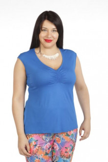 Блуза 343 Luxury Plus (Голубой)